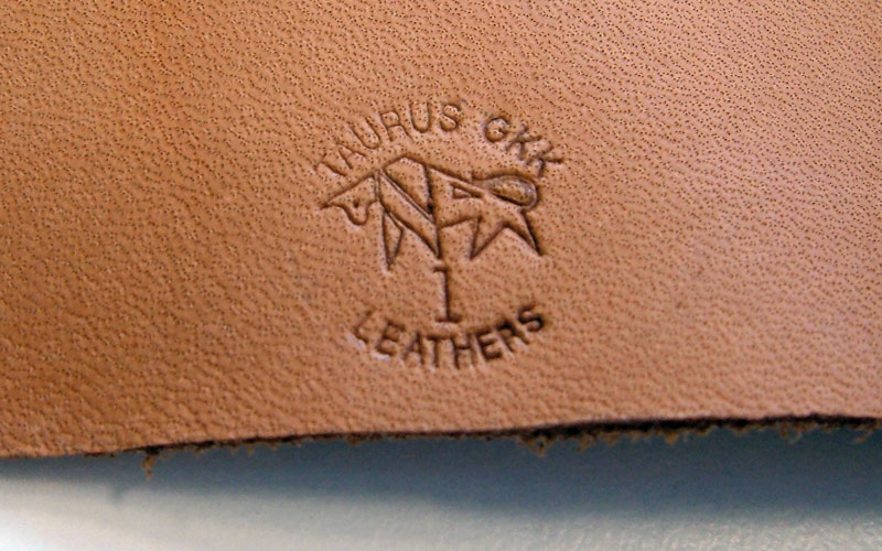 Marking result on semi-finished leather
