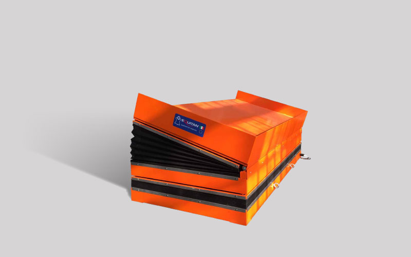 Equitan scissor lift specific designed for sorting of finished leathers before shipping
